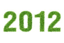 Free New Year Made Of Grass Stock Photos - 19908973