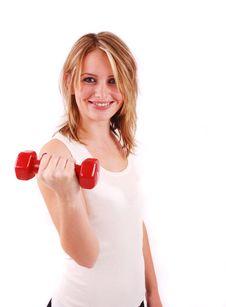 Exercising Young Woman Royalty Free Stock Photos