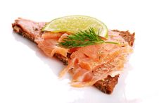 Free Fresh Salmon Sandwich Stock Images - 19909064