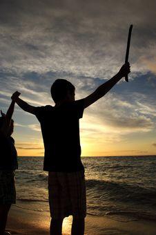 Free Hawaiin Sunset Stock Photo - 19909390