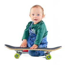 Free Little Boy On A Skateboard Stock Photography - 19909802