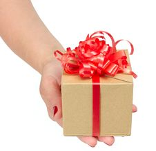 Free Female Hands Holding Gift Box Stock Photo - 19909850