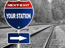 Free Your Station Road Sign Royalty Free Stock Image - 19909976