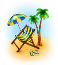 Free Drawing Of Chaise Lounge Stock Photography - 19910522