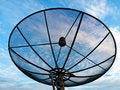 Free Satellite Dish Antennas Under Blue Sky Stock Image - 19917551