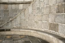 Free Curve Section Of A Granite Stone Wall And Floor Royalty Free Stock Photo - 19910005