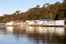 Boat Houses Royalty Free Stock Images