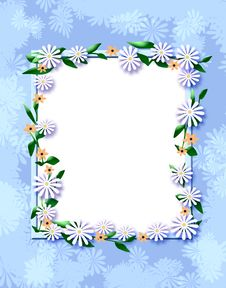 Free Daisy Scrapbook Frame Royalty Free Stock Photography - 19910227