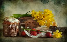 Free Easter Still Life With Narcissuses Royalty Free Stock Image - 19911426