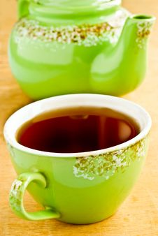 Free Green Tea Cup Royalty Free Stock Image - 19911936