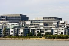 Free Apartments And Offices On Waterfront Stock Images - 19912014