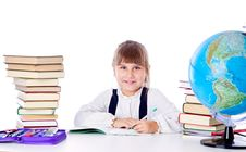 Free Girl Is Doing Homework Stock Photos - 19912083