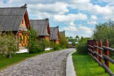 Free Traditional Russian Wooden Houses In Spring. Royalty Free Stock Photography - 19912217