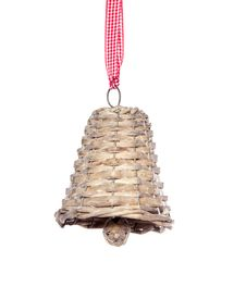 Free A  Hanging Wicker Jingle Bell Royalty Free Stock Photo - 19912515