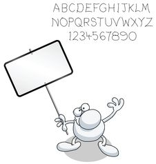 Free Man With Blank Sign Stock Image - 19912611
