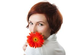 Free Beautiful Woman With Flower Stock Photo - 19912800