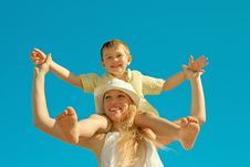 Free Mother With Son Stock Photos - 19912873