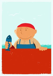Free Vintage Fishmonger Poster Background Stock Photo - 19912900