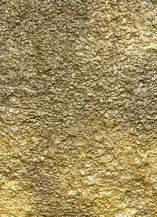Free Gold Color Wall Texture Stock Photography - 19912942