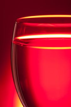 Red Glass Stock Photo