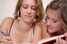 Free Teens Do Homework Stock Image - 19914381