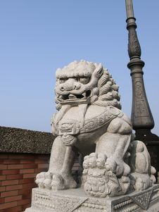 Free Chinese Stone Lion Stock Photography - 19914912