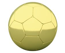 Free Gold Soccer Ball Stock Image - 19915171