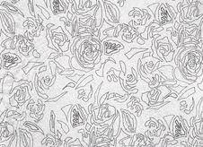 Free Floral Pattern. Black On White. Royalty Free Stock Photo - 19915295