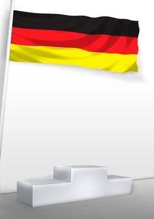 Germany On Pedestal Royalty Free Stock Images