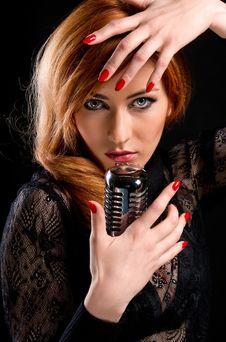 Gorgeous Singer Royalty Free Stock Photos
