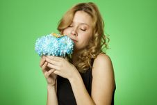 Free Woman With Flowers Royalty Free Stock Photo - 19915745