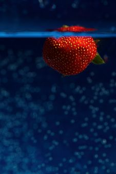 Free Strawberry In Blue Royalty Free Stock Photo - 19917315
