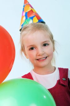 Free Girl With Birthday Hat Stock Images - 19917744