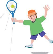 Free Tennis Player Royalty Free Stock Photo - 19917995