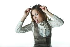 Free The Girl Shows Language Royalty Free Stock Photo - 19918295