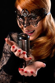Gorgeous Singer Royalty Free Stock Photography
