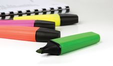 Free Highlighter Markers Royalty Free Stock Images - 19918659