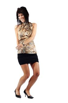Free Attractive Woman In Skirt Dancing Stock Photos - 19919553