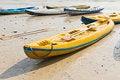 Free Old Colorful Kayaks Stock Image - 19920651