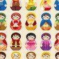Free Seamless Russian Doll Pattern Stock Photography - 19921542