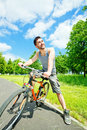 Free Young Man Cyclist Royalty Free Stock Images - 19924659