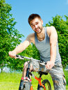 Free Young Man Cyclist Stock Photo - 19924710