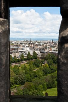 Free Edimburgh Castle, View From A Slit Stock Photography - 19920042