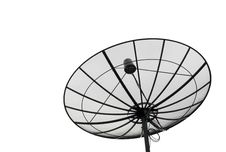 Free Satellite Dish Black Isolated Royalty Free Stock Photos - 19920218