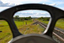 Free Railway Tracks Through The Railcars Stock Photos - 19920243