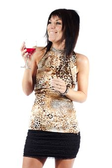 Free Attractive Woman Drinking Wine Royalty Free Stock Photography - 19920437