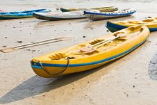 Free Old Colorful Kayaks Stock Image - 19920651