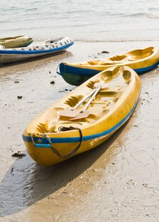 Free Old Colourful Kayaks Stock Photo - 19920660