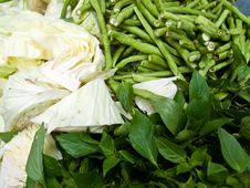 Thai Vegetables For Thai Food Royalty Free Stock Photos