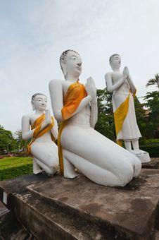Free Buddha Images In Ayuthaya Thailand Royalty Free Stock Photos - 19921258